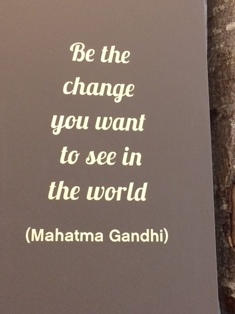 Be the change you want to see in the world (mahatma Gandhi)